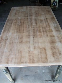 Refinishing The Dining Room Table   Saving 4 Six