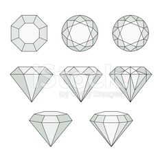Diamond vector icons set. royalty-free stock vector art