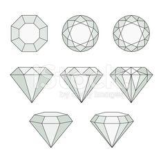 Diamond vector icons set. royalty-free stock vector art