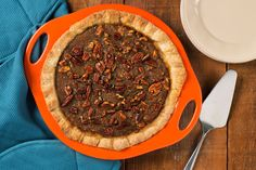 A buttery crust and sweet filling make this pecan pie a family favorite of Rachael's.