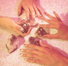 """cschoonover: """"Shot for Nylon Magazine by Chris Schoonover Nails by Fleury Rose """" Nylons, Holographic Nails, Pink Aesthetic, Brown Aesthetic, Twinkle Twinkle, Pretty In Pink, Eye Candy, Girly, Poster"""