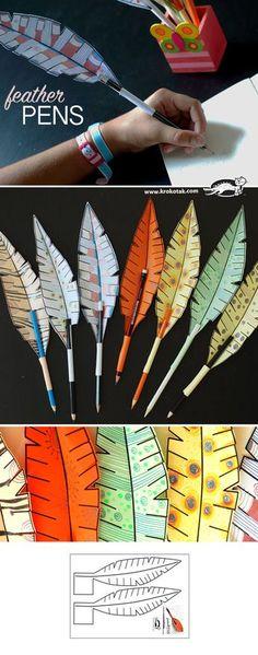 27 New ideas diy paper birds kids Kids Crafts, Projects For Kids, Diy For Kids, Diy And Crafts, Craft Projects, Arts And Crafts, Paper Crafts, Paper Feathers, Papier Diy
