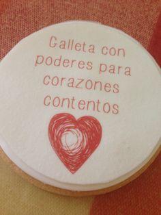 Galletas con mensajes positivos. Print cookie with positive post.
