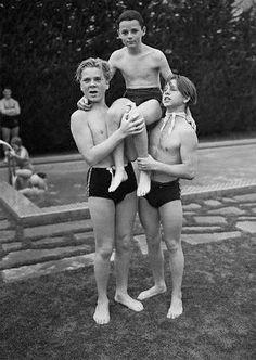 Jackie Cooper, Freddie Bartholomew and Mickey Rooney