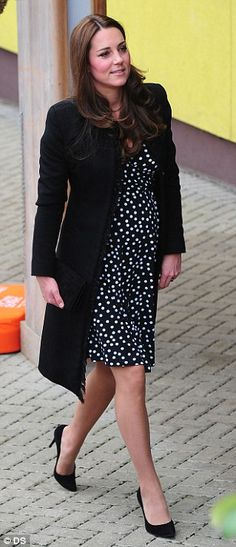 Looking good: The Duchess of Cambridge cut a glamorous figure in her cheap chic maternity ...