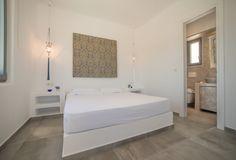 Sunny Vacation in Naxos Island - Holiday Naxos Luxury Villas Blue Bedroom, Two Bedroom, Bedrooms, Vacation Homes For Rent, Grey Colors, Comfort Mattress, Luxury Villa, Floor, Windows