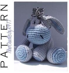 INSTANT DOWNLOAD : KISS Series - Sad Donkey Crochet Pattern FiberDoodlesbyK4TT 4.80 USD September 29 2015 at 01:06PM