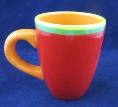 cc6dc7aa5636 Dansk Caribe Aruba Orange Coffee Mug Multi Colored Hand Painted Nick