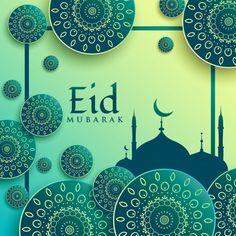 Elegant modern green design for eid mubarak Free Vector Eid Mubarak Hd Images, Eid Mubarak Pic, Eid Mubarak Banner, Eid Mubarak Background, Eid Mubarak Wishes, Eid Mubarak Greeting Cards, Eid Cards, Eid Mubarak Greetings, Happy Eid Mubarak