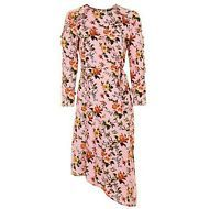 Topshop Dress Womens Midi Floral Pink Size 6 New with Tags