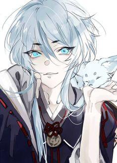 画像 - Anime New Photos Cute Anime Guys, Hot Anime Boy, Anime Boys, Anime Fox Boy, Manga Anime, Manga Girl, Touken Ranbu, Anime Style, Anime Tumblr