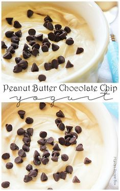 Peanut Butter Chocolate Chip Yogurt is a great snack when you need a little boost. Using Greek yogurt and peanut butter gives you the protein you need to keep going.