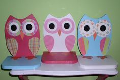 Owl Shelves set of 3 wooden owl shelves by TheWoodenOwl on Etsy, $69.99