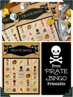 Free Pirate Bingo Printable More