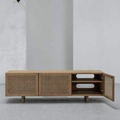 Taupe Living Room, Living Room Decor, Room Interior, Interior Design, Tv Bench, Cane Furniture, Helsingborg, Cribs, Indoor