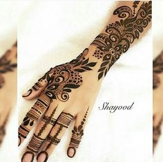 نقش حنا Arabic Henna Designs, Hena Designs, Unique Mehndi Designs, Henna Designs Easy, Beautiful Henna Designs, Beautiful Mehndi, Bridal Mehndi Designs, Bridal Henna, Mehndi Design Pictures
