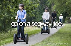 Part of my bucket list. go on a segway tour at marina bay . It's fun , informative and a great experience :D . The Bucket List, Best Friend Bucket List, Bucket List Before I Die, Summer Bucket Lists, Fun Bucket, Segway Tour, One Day I Will, Life List, Favim