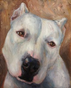 Charlie by Painted Paws Studio    #rescue #pitbull #dogart #painting