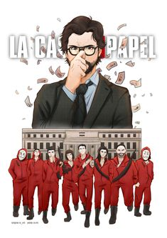La Casa de Papel I just needed to draw a fanart of La Casa de Papel (Money Heist) so bad, you can't even imagine how much i loved this show 💕💕 This also comes with a speedpaint, which is in my. Series Movies, Film Movie, Movies And Tv Shows, Tv Series, Movie Wallpapers, Cute Wallpapers, Films Netflix, Fan Art, Paper Houses