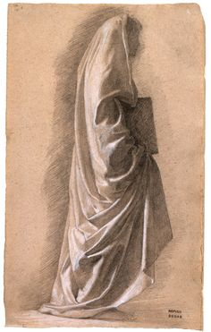 Edgar Degas: Study for Dante and Virgil, 1857-58, graphite drawing with white…