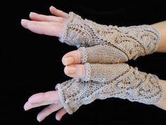 Fern Spiral Fingerless Gloves | Craftsy