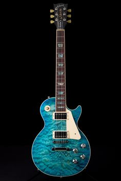 Gibson 2015 Les Paul Standard Premium Quilt in Ocean Water Perimeter Candy