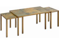 Uttermost Couper 36 x 20 Rectangular Oxidized Nesting Coffee Tables (3 Piece Set)
