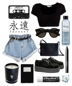 """shades"" by aaalexg ❤ liked on Polyvore featuring Lisa Carrier, Beau Coops, CÉLINE, philosophy, Chapstick and NARS Cosmetics"