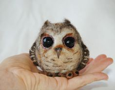 Needle Felted Baby Owl by amber-rose-creations.deviantart.com on @DeviantArt