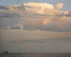 This artist has woven magic over the landscape by using a compelling low horizon line.   ~ Peter Rotter . After the Storm