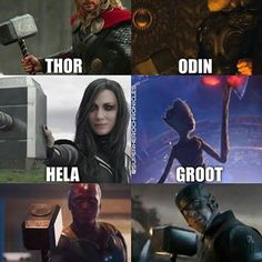 Updated, and also the rest of the gang with extras; Thor, Rocket and Captain Marvel. We saw artwork of Thor and Rocket in the Quantum… Marvel Comics, Hq Marvel, Marvel Funny, Marvel Heroes, Comic Superheroes, Hulk Comic, Captain Marvel, Avengers Memes, The Avengers