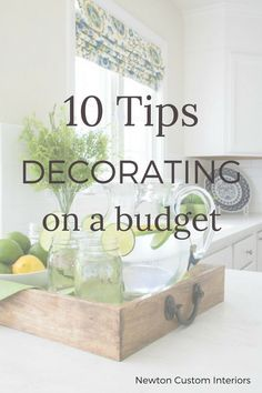 Learn how to decorate on a budget! These 10 tips for decorating on a budget will help you create a home you love without breaking the bank!
