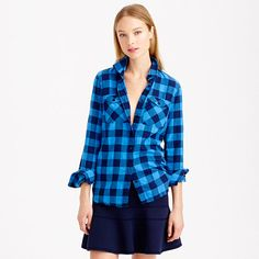 #Jcrew flannel check shirt: http://bit.ly/1vxa6HI