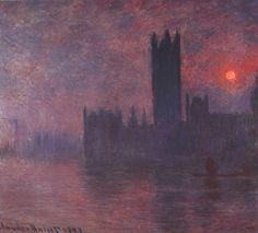 Londres: Casas del Parlamento al atardecer (1903), Claude Monet