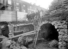 Wells found underneath the Market Place, Huddersfield, 1906