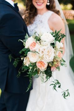 Gorgeous Juliette Rose bouquet: http://www.stylemepretty.com/texas-weddings/austin/2015/03/12/vintage-chic-wedding-at-the-vineyards-at-chappel-lodge/ | Photography: Awake - http://www.awakephotographers.com/