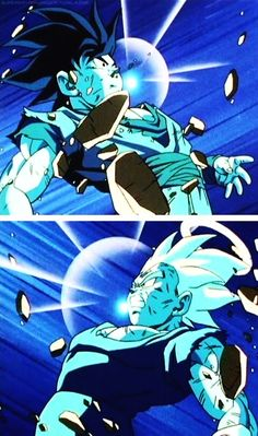Dragon Ball Z - Vegeta & Goku (different reactions)