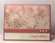 Falling Details by Diane Malcor - Cards and Paper Crafts at Splitcoaststampers Wedding Shower Cards, Wedding Cards, Handmade Birthday Cards, Greeting Cards Handmade, Wedding Anniversary Cards, Aniversary Cards, Happy Anniversary, Best Wishes Card, Horse Cards