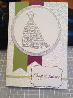 Stampin up! Wedding card
