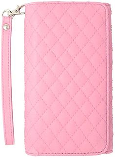 """myLife Executive Design {Strap Wristlet - Bifold} Magnetic Wallet for Nokia Lumia 1020 {Light Carnation Pink """"Fine Quilted"""" Textured Faux Vegan Leather - Money, ID and Credit Card Holder Folio Design} myLife Brand Products http://www.amazon.com/dp/B00SG93UGI/ref=cm_sw_r_pi_dp_KPF-ub11770R2"""