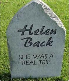 Halloween 'Helen Back' tombstone prop decoration Halloween Prop, Halloween Outside, Halloween Graveyard, Halloween Yard Decorations, Halloween Party Supplies, Outdoor Halloween, Halloween Party Decor, Holidays Halloween, Halloween Ideas