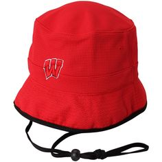brand new d72b2 72dd1 Wisconsin Badgers Top Of The World Backswing Bucket Hat - Red, Sale   11.99  -
