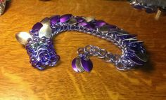 my purple chainmail dragon with scales