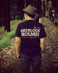 Handsome dude with his Sherlock Holmes's T-Shirt presented by Visimedia