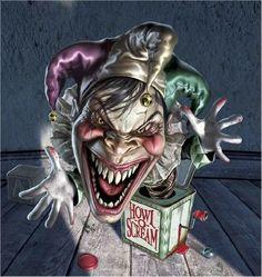 Digital Art works & Illustration by Mark Fredrickson: Mark Fredrickson has worked as an illustrator and fine artist for over 30 years. Gruseliger Clown, Joker Clown, Freaky Clowns, Evil Clowns, Jack In The Box, Tattoo Gangsta, Arte Digital Fantasy, Digital Art, Art Sinistre