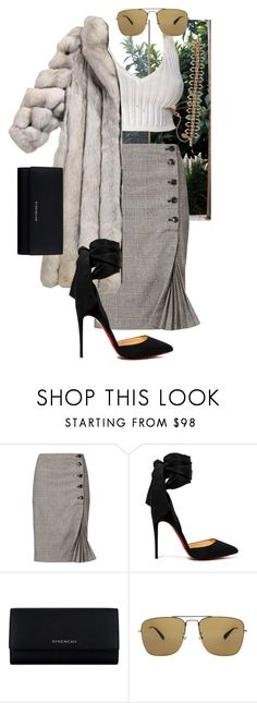 """like can I get some company"" by bkrasniqi ❤ liked on Polyvore featuring Banana Republic, Christian Louboutin, Givenchy, Gucci and Michal Negrin"