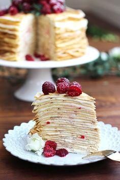 "audreylovesparis: ""French crêpe cake """