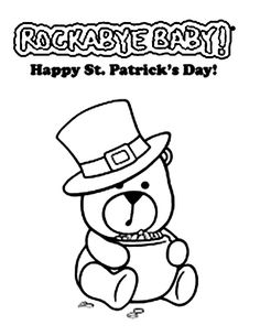Cute Teddy Bear Say Happy St Patricks Day Coloring Page - Download & Print Online Coloring Pages for Free | Color Nimbus Happy Teddy Bear Day, Cute Teddy Bears, Online Coloring Pages, Happy St Patricks Day, Free Coloring, Saints, House Decorations, Fun, Template