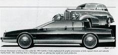 1980s cadillac fleetwood concept,(c) gm co inc