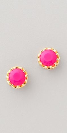 Juicy Couture Princess Studs in Tiki Torch. Come in Ultra Fuschia, White, Cerulean Sky and Coral too.